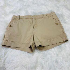Old Navy Khaki Mid Rise Shorts - Size 8